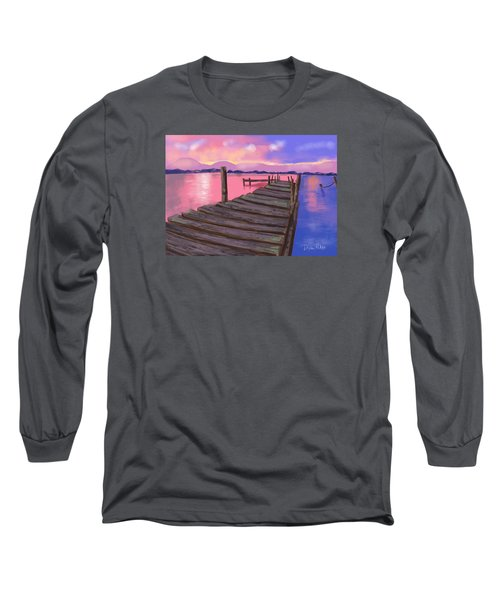 Dock At Sunset Long Sleeve T-Shirt