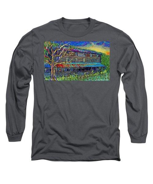 Dodds Creek Mill, ,floyd Virginia Long Sleeve T-Shirt