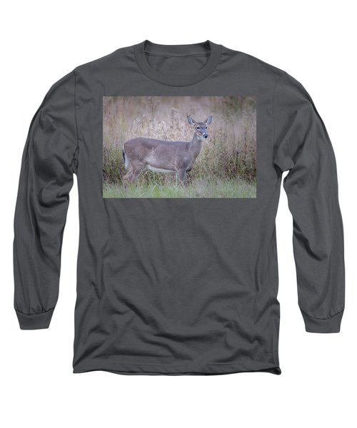 Long Sleeve T-Shirt featuring the photograph Doe by Tyson Smith