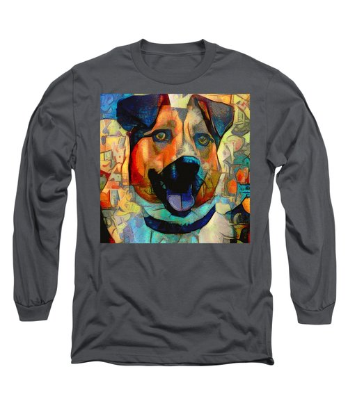 Dog And Cubes Long Sleeve T-Shirt