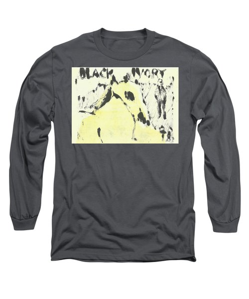 Dog At The Beach - Black Ivory 1 Long Sleeve T-Shirt