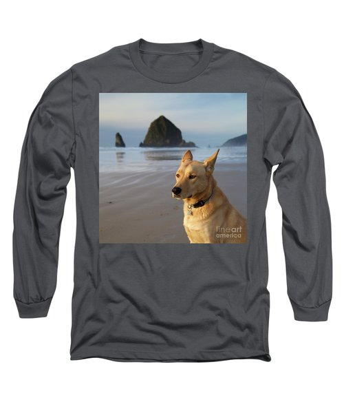 Dog Portrait @ Cannon Beach Long Sleeve T-Shirt