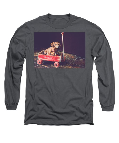 Doggy In A Wagon Long Sleeve T-Shirt