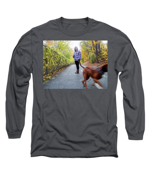 Dogwalking Long Sleeve T-Shirt