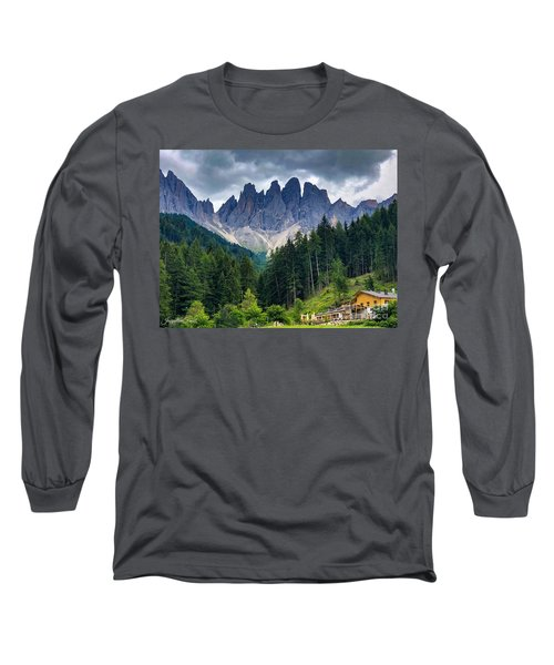 Long Sleeve T-Shirt featuring the photograph Dolomite Drama by Jacqueline Faust