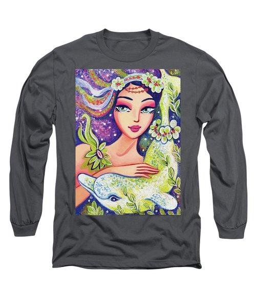 Dolphin Mermaid Long Sleeve T-Shirt