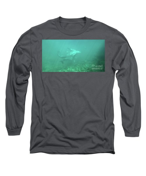 Long Sleeve T-Shirt featuring the photograph Dolphin Swim by Francesca Mackenney