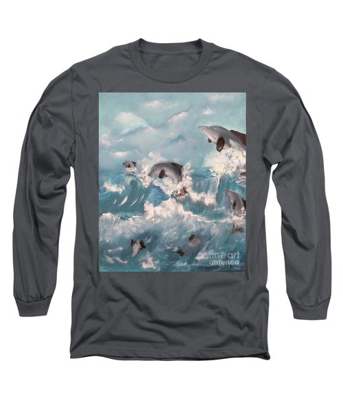 Dolphins At Play Long Sleeve T-Shirt