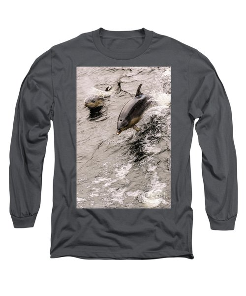 Dolphins Long Sleeve T-Shirt by Werner Padarin