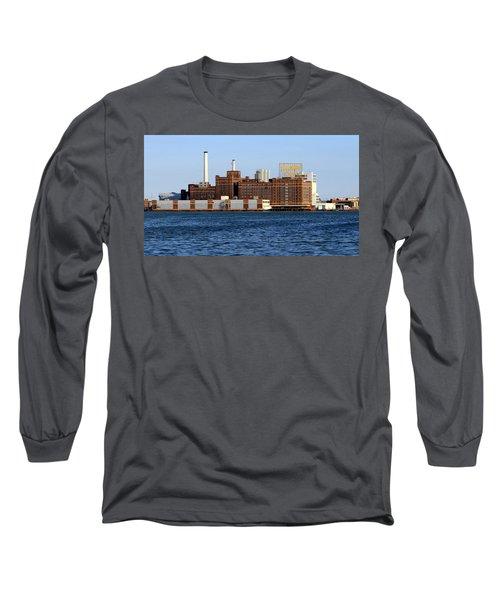 Domino Sugar Long Sleeve T-Shirt by Joseph Skompski