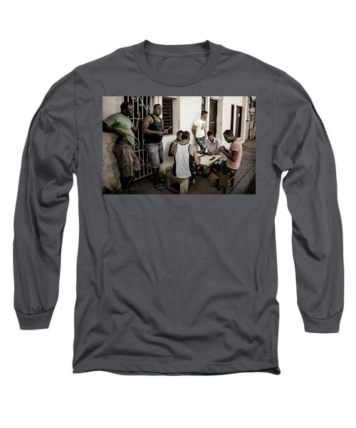 Long Sleeve T-Shirt featuring the photograph Dominoes by Joan Carroll