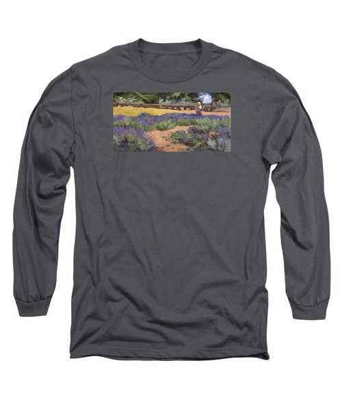 Don Read Painting Lavender Long Sleeve T-Shirt by Jane Thorpe