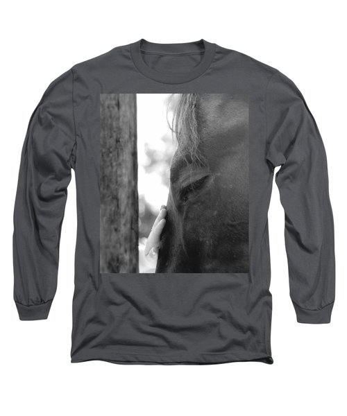 Don't Be Afraid Long Sleeve T-Shirt by Donna Blackhall