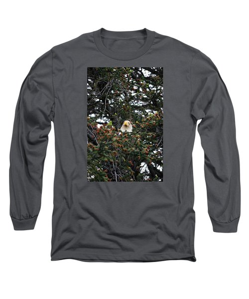 Don't Let Him Fool You He Might Be Blinking But He's Still Watching Me Long Sleeve T-Shirt by Dacia Doroff