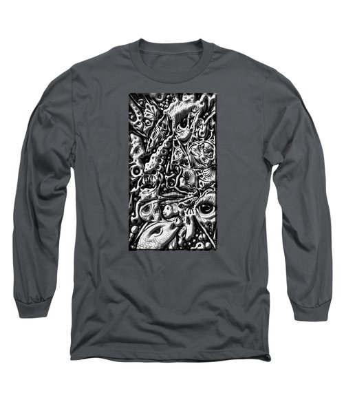 Long Sleeve T-Shirt featuring the digital art Doodle Emboss by Darren Cannell
