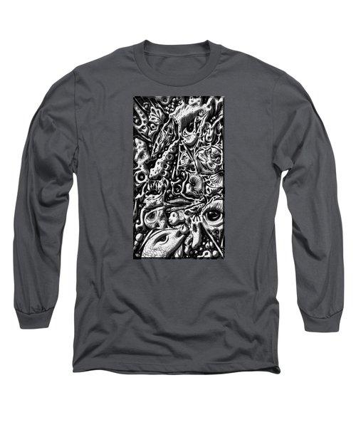 Doodle Emboss Long Sleeve T-Shirt