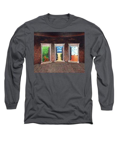 Door Number Three Long Sleeve T-Shirt