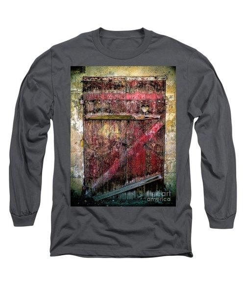 Door To My Heart Long Sleeve T-Shirt by Karen Lewis