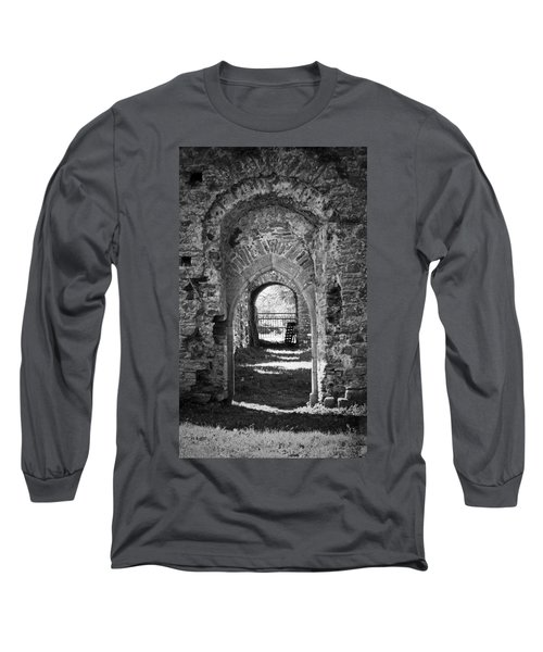 Doors At Ballybeg Priory In Buttevant Ireland Long Sleeve T-Shirt
