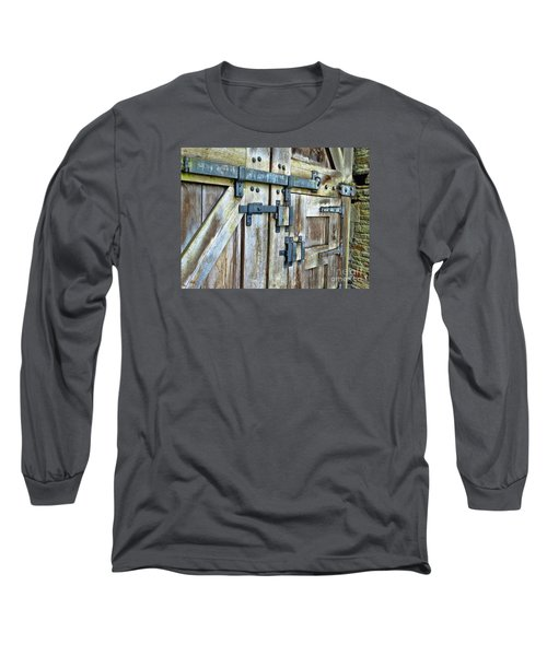 Doors At Caerphilly Castle Long Sleeve T-Shirt by Judi Bagwell