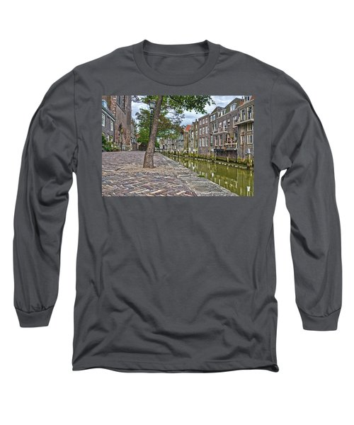 Long Sleeve T-Shirt featuring the photograph Dordrecht Behind The Church by Frans Blok