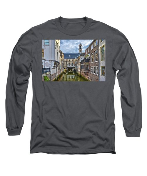 Long Sleeve T-Shirt featuring the photograph Dordrecht Town Hall by Frans Blok