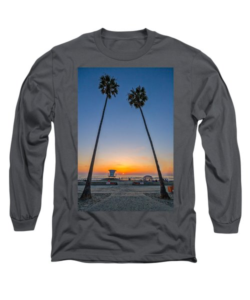 Dos Palms Long Sleeve T-Shirt by Peter Tellone