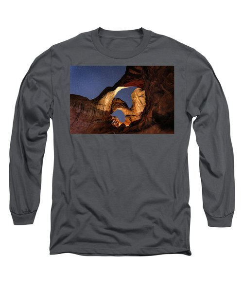 Double Arch At Night Long Sleeve T-Shirt