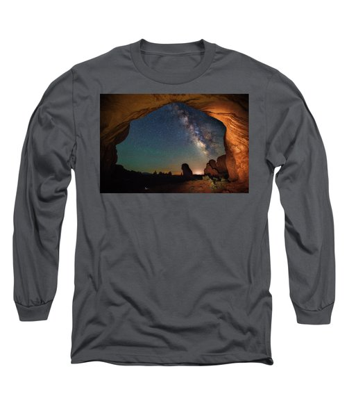 Double Arch Milky Way Views Long Sleeve T-Shirt by Darren White