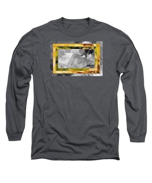 Long Sleeve T-Shirt featuring the digital art Double Framed Portrait by Andrea Barbieri