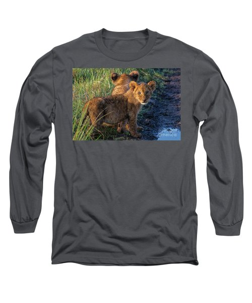 Long Sleeve T-Shirt featuring the photograph Double Trouble by Karen Lewis