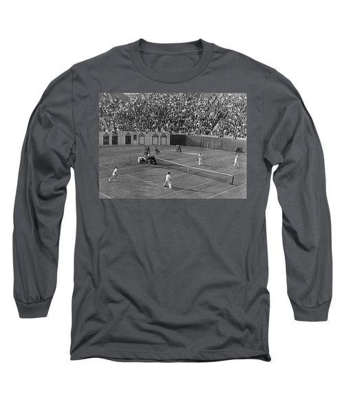 Doubles Tennis At Forest Hills Long Sleeve T-Shirt