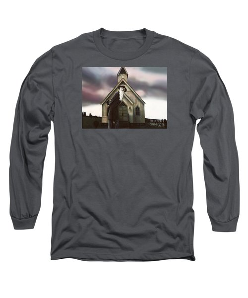 Long Sleeve T-Shirt featuring the painting Doubt Or Faith by Dave Luebbert