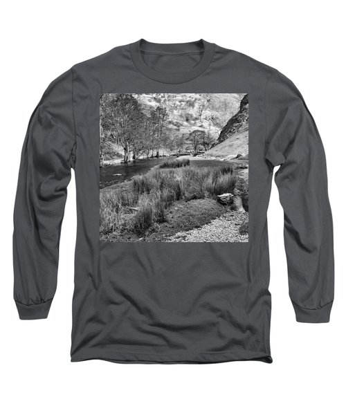 Dovedale, Peak District Uk Long Sleeve T-Shirt by John Edwards