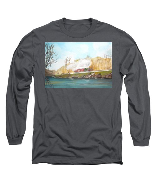 Down By The River Side Long Sleeve T-Shirt by Carole Robins