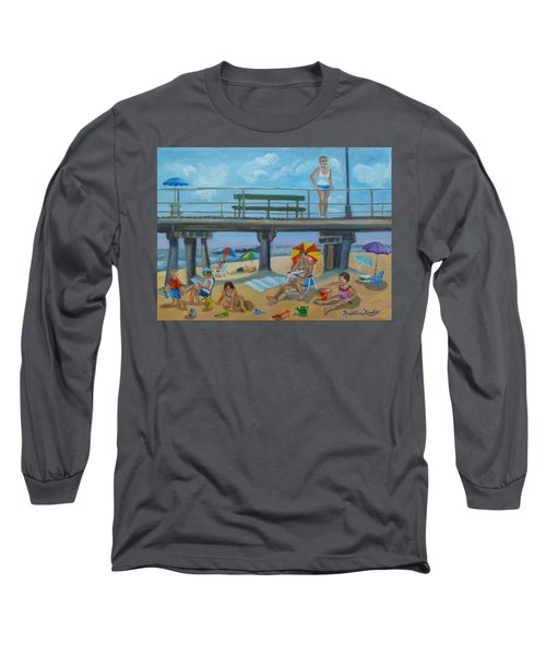 Down By The Seashore In Ocean Grove, N.j. Long Sleeve T-Shirt