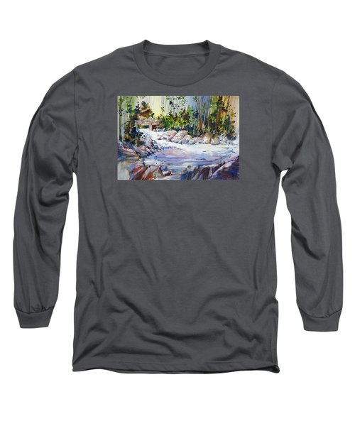 Down Stream On Hoppers Creek Long Sleeve T-Shirt by P Anthony Visco