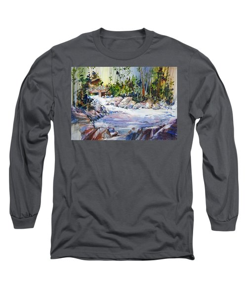 Down Stream On Hoppers Creek Long Sleeve T-Shirt