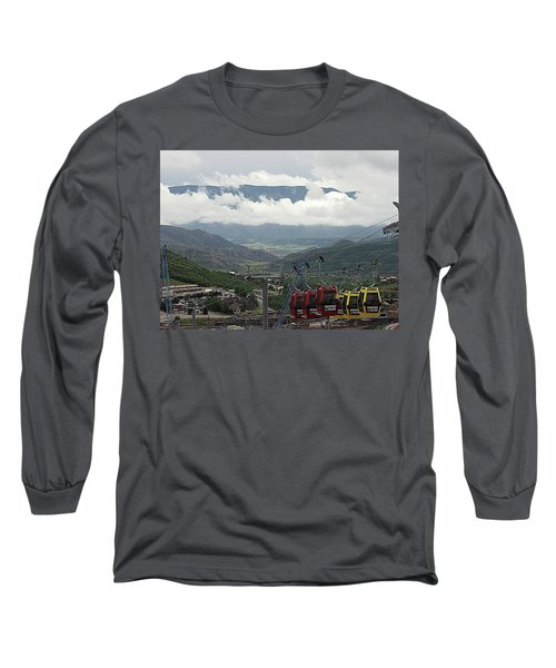 Long Sleeve T-Shirt featuring the photograph Down The Valley At Snowmass by Jerry Battle