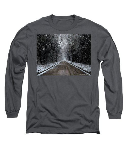 Down The Winter Road Long Sleeve T-Shirt