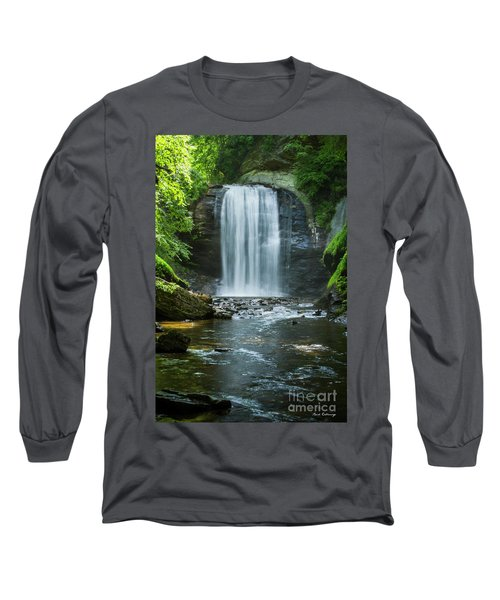 Long Sleeve T-Shirt featuring the photograph Downstream Shade Looking Glass Falls Great Smoky Mountains Art by Reid Callaway