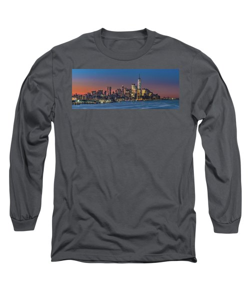 Downtown And Freedom Tower Long Sleeve T-Shirt