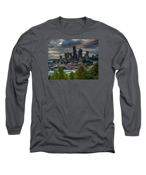 Long Sleeve T-Shirt featuring the photograph Downtown by Jerry Cahill