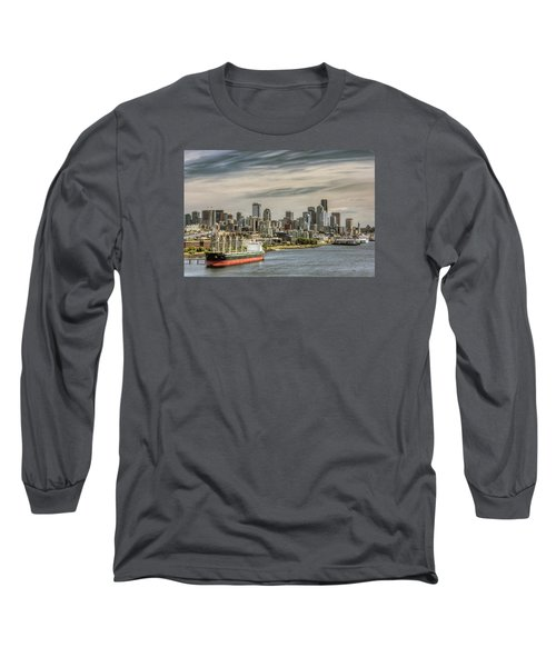 Downtown Seattle Long Sleeve T-Shirt by Lewis Mann