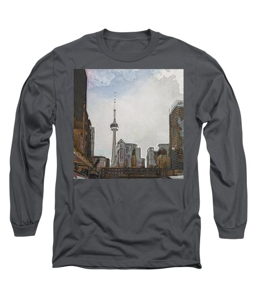 Downtown Toronto In Color Long Sleeve T-Shirt