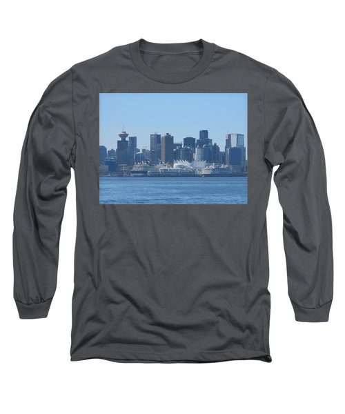 Downtown View From North Vancouver Long Sleeve T-Shirt