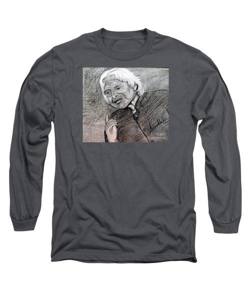Dr. Abdul Khalam Long Sleeve T-Shirt by Brindha Naveen