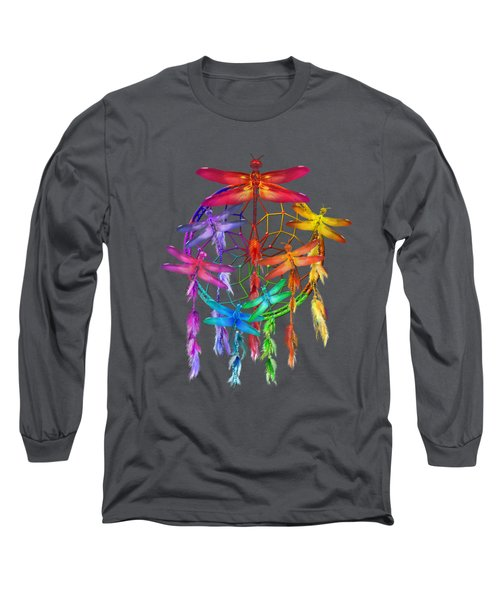 Dragonfly Dreams Long Sleeve T-Shirt by Carol Cavalaris