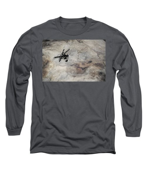 Dragonfly On Solid Ground Long Sleeve T-Shirt