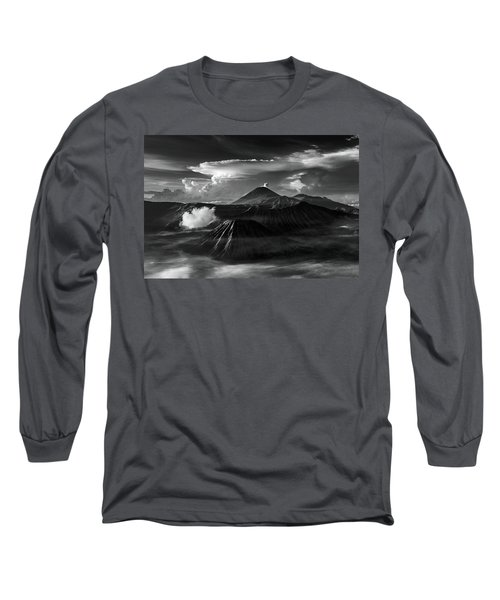 Dramatic View Of Mount Bromo Long Sleeve T-Shirt